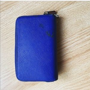 Blue Michael kors mini zippered wallet